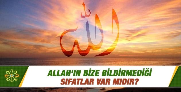 Allah'ın bize bildirmediği sıfatlar var mıdır?