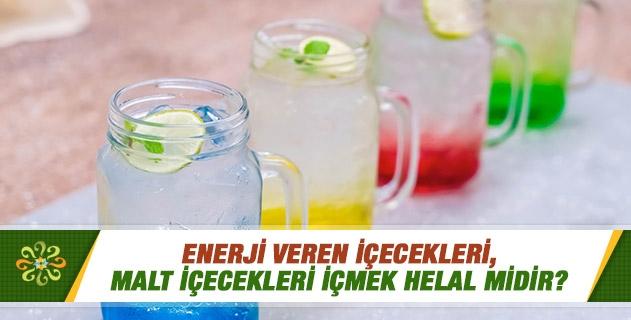 Enerji veren içecekleri, malt içecekleri içmek helal midir?