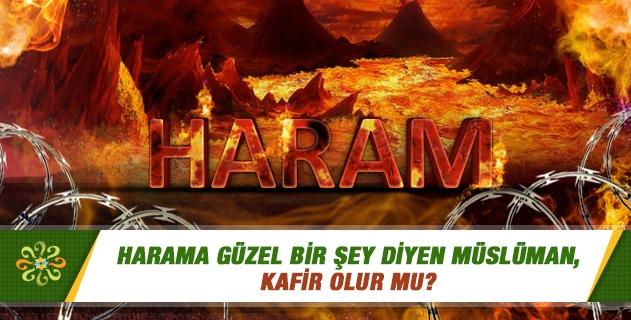 Harama güzel bir şey diyen Müslüman, kafir olur mu?