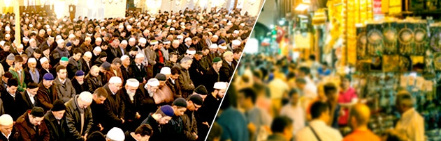 """""""Allah'ın en çok sevdiği yerler mescitlerdir, Allah'ın en ziyade nefret ettiği yerler de çarşı ve pazarlardır."""" hadis-i şerifini nasıl anlamak gerekir?"""